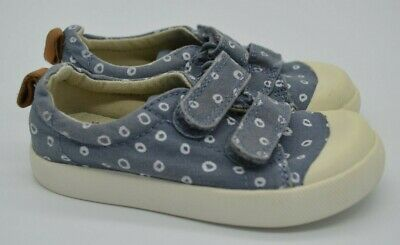 Clarks Doodles Blue White Flat Pumps Trainers Girls/Boys Size 5F Hardly Worn!