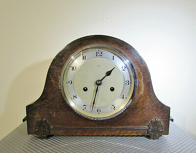 Vintage Mantel clock Enfield two train chiming pendulum movement