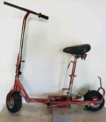 Old Salorr Gas Scooter For Parts Or Repair Project Frame Only