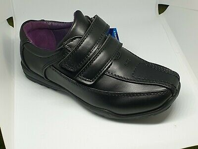 US Brass Boys School Shoes BOWIE Black Kids Synthetic Leather Back to School