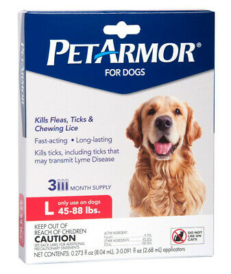 PetArmor Plus Flea & Tick Prevention for Large Dogs (45-88 lbs) 3 Month Supply