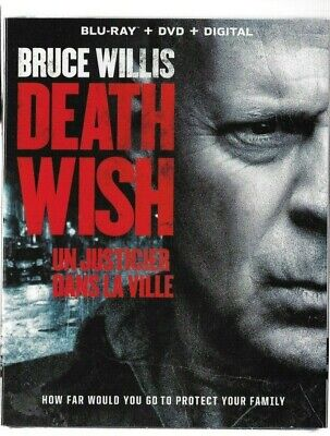 Brand New Sealed BLU-RAY + DVD - DEATH WISH - BRUCE WILLIS - Also In French