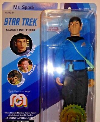 MEGO 2018 STAR TREK Spock Doll only 10000 LE CLASSIC 8 INCH Action Figure NIP