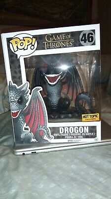 "Funko Pop! Drogon Hot Topic 6"" Game of Thrones 46"