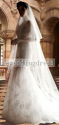 Enchanting 3M Cathedral White Ivory 2 Tiers Tulle Bridal Wedding Veil With Comb