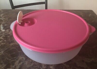 New Tupperware Large Crystalwave Microwave Container 3qt