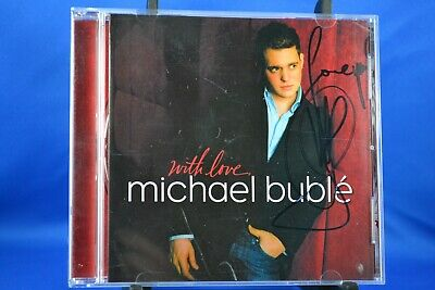 Michael Buble With Love CD 2005 Hallmark Canada  SIGNED AUTOGRAPHED  RARE
