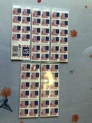 100 PCS.  (5 sheets Of 20 ) USPS FOREVER STAMPS US FLAG SHEETS , FIST CLASS