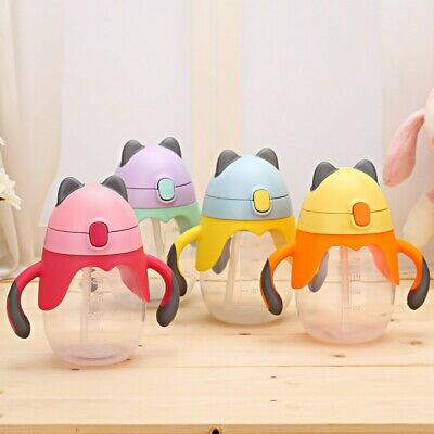 UK Portable Toddler Baby Kids Feeding Drinking Water Bottle Cup With Straw New