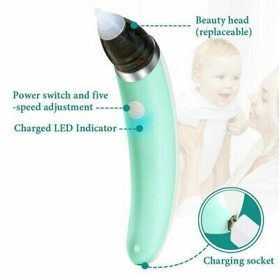 Baby Nasal Aspirator Electric Automatic Nose Cleaner Banana Shaped for Newborn