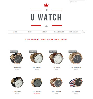 The U Watch Online Business 21.5k Followers on Socials! Dropship A$11k in SALES!