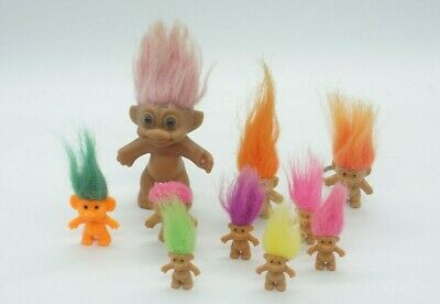10X Various Vintage Troll Doll - RUSS - ede