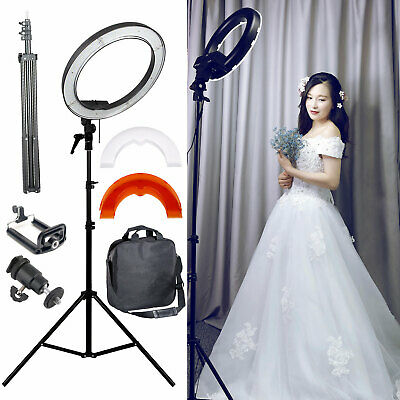 "Studio 12"" LED 35W Ring Light + 200cm Reverse Stand Photo Video Makeup Beauty UK"