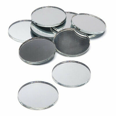 Round Circle Silver Craft  Mirror Glass Mosaic Tile Deco Art For Dia Dress