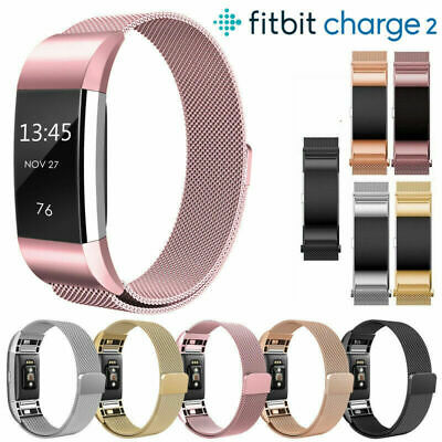 Fitbit Charge 2 Strap Replacement Milanese Band Metal Stainless Steel Magnet