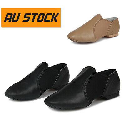 AU Stock Jazz Dance Shoes Indoor Ballroom Dance Shoes Soft Genuine Leather Fast