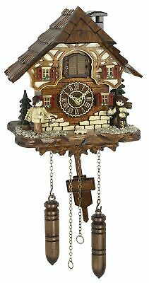 Quartz Cuckoo Clock Black forest house with music TU 4272 QM HZZG NEW