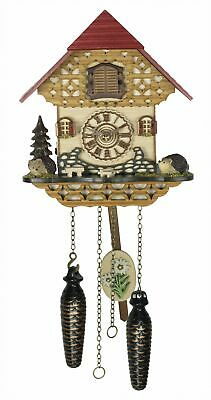 Quartz Cuckoo Clock Black forest house with music TU 4245 QM NEW