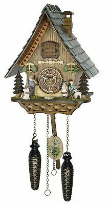 Quartz Cuckoo Clock Black forest house with music TU 4235 QM NEW