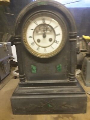 French L Marti Mantle Clock Dating From 1867 Till 1889 Needs A Good Clean And