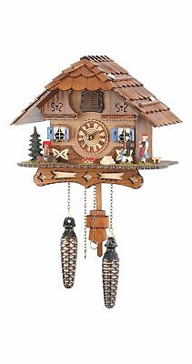 Quartz Cuckoo Clock Black forest house with music TU 488 QM NEW
