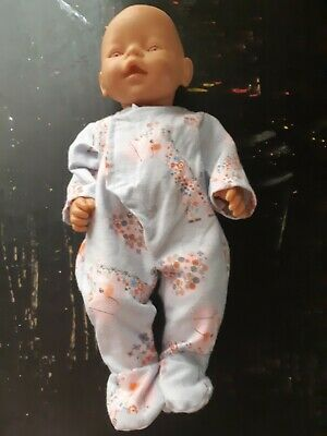 Homemade Baby Born Blue With Flowers and Llama Coverall