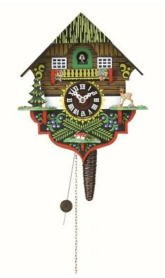 Quarter call cuckoo clock with 1-day movement Black Forest House TU 618 NEW