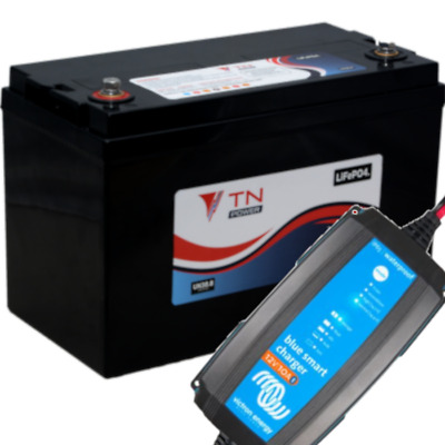 84 AH Lithium Battery with 12/10 Victron Energy Charger Package Deal.