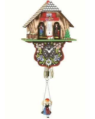 Black Forest Clock Black Forest House Weather House  TU 802 SQ NEW