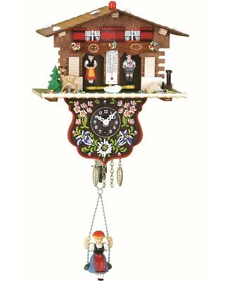 Black Forest Clock Swiss House Weather House  TU 807 SQ NEW