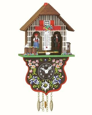 Black Forest Clock Black Forest House Weather House  TU 805 PQ NEW