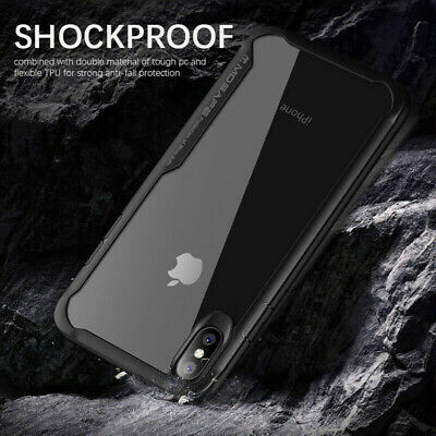 For iPhone XR X XS Max Hard Case Shockproof TPU Bumper HD Clear Back Cover UK