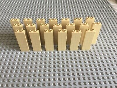 LEGO bricks 1x1x5 x20 panels # TAN pillar column walls castle harry potter