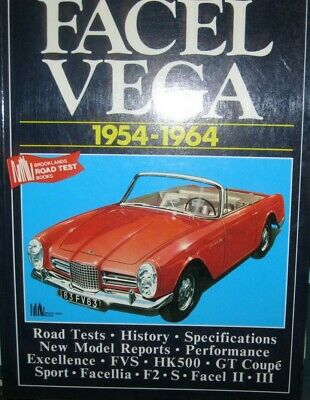 * Facel Vega 1954-1964 Road Tests, History, Specifications, New Model Reports,