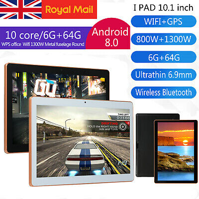 "10.1"" Inch Tablet PC Android 8.1 6G+64GB 10 Core WIFI Dual SIM Camera Bluetooth"