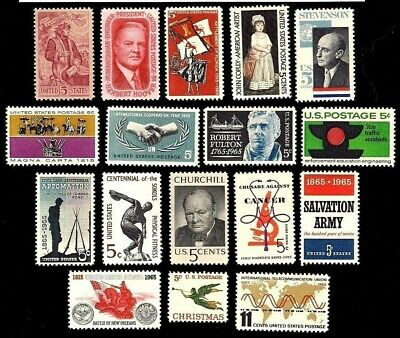 1965 -Complete Year Set Of Mint, Never Hinged, (Mnh) Vintage U.s. Postage Stamps