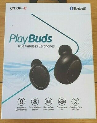 Groov-e Play Buds True Wireless Bluetooth Earphones, Black GV-TW01,