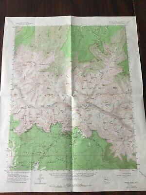1962 GRAND CANYON NATIONAL PARK  Dept of Interior Geological Survey Map