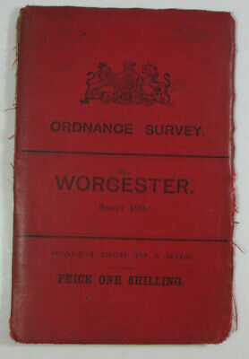 1897 Old OS Ordnance Survey Revised New Series One-Inch Map 199 Worcester