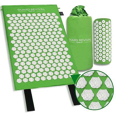 Acupressure Mat Lotus Massage Pillow Set Relieve Neck Back Relax Muscles Travel