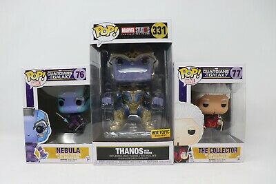 Funko Pop!! Guardians of The Galaxy Lot Of 3 Thanos On Throne, Nebula, Collector