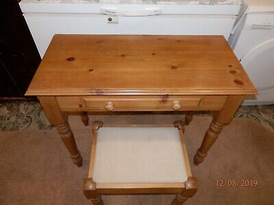 Antique Pine Dressing Table with matching Stool