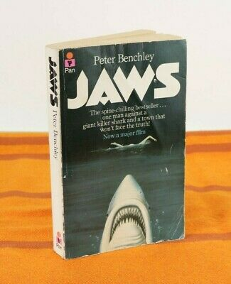 Vintage Jaws Peter Benchley Paperback Book Novel 1975 Movie Tie In, Pan