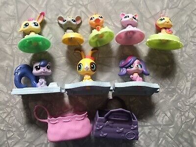 Lot of 10 Littlest Pet Shop McDonald's Happy Meal Toys LPS Hasbro Various