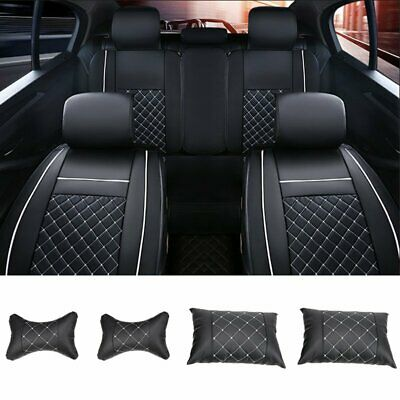 Universal PU Leather 5-Seats SUV Front & Rear Full Car Seat Cover Cushion Set