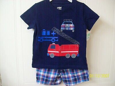 NWT- Carters Child of Mine- Boy 2 Piece Shorts Outfit- Size 18 Months- So Cute!