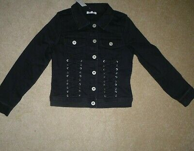 BNWT Debehams Bluezoo Girls black Denimn Jacket Age 10