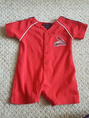 Infant St. Louis Cardinals one-piece t-shirt with snaps, Size 3-6 months