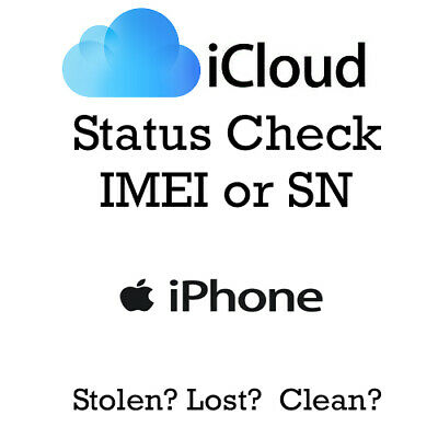 iPhone iPad Apple Watch iCloud Clean Lost Mode Check IMEI or Serial SN