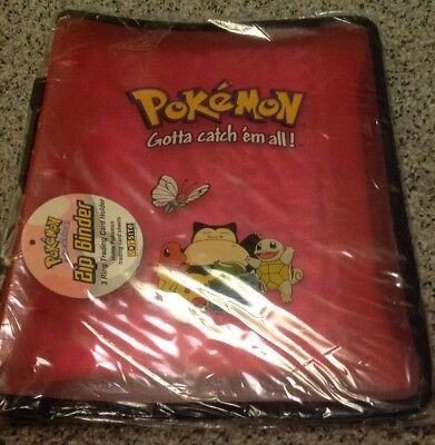 Pokemon Folder Nintendo 3 Ring Zip Binder & Pages. NEW 1999. Extremely RARE
